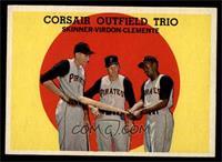 Corsair Outfield Trio (Bob Skinner, Bill Virdon, Roberto Clemente) [EX]