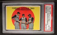 Corsair Outfield Trio (Bob Skinner, Bill Virdon, Roberto Clemente) [PSA4]