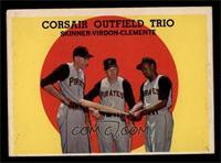 Corsair Outfield Trio (Bob Skinner, Bill Virdon, Roberto Clemente) [VGEX]