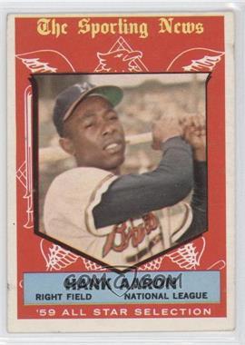 1959 Topps #561 - Hank Aaron [GoodtoVG‑EX]