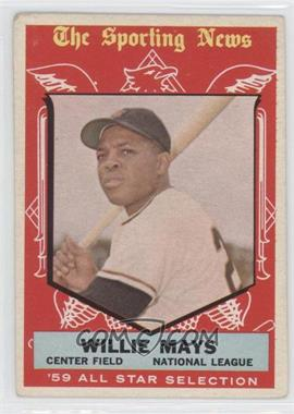 1959 Topps #563 - Willie Mays [Good to VG‑EX]
