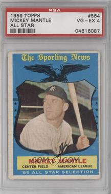 1959 Topps #564 - Mickey Mantle [PSA 4]