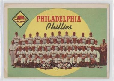 1959 Topps #8 - Philadelphia Phillies Team (First Series Checklist) [GoodtoVG‑EX]