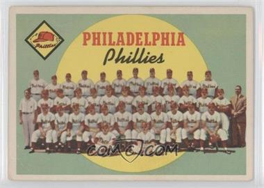 1959 Topps #8 - Philadelphia Phillies Team (First Series Checklist) [Good to VG‑EX]