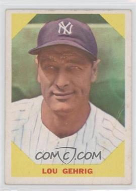 1960 Fleer - [Base] #28 - Lou Gehrig [GoodtoVG‑EX]