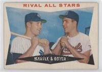 Rival All-Stars (Mickey Mantle, Ken Boyer) [GoodtoVG‑EX]