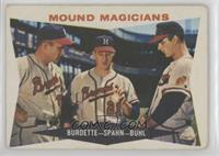 Mound Magicians (Lou Burdette, Warren Spahn, Bob Buhl) [GoodtoVG&#8…