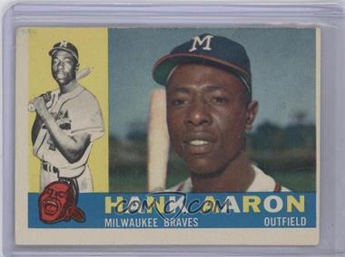 1960 Topps - [Base] #300 - Hank Aaron