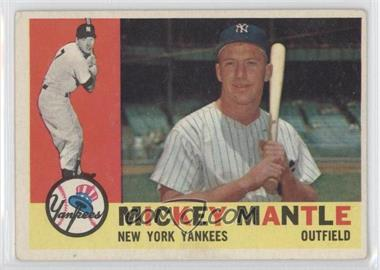 1960 Topps - [Base] #350 - Mickey Mantle [GoodtoVG‑EX]