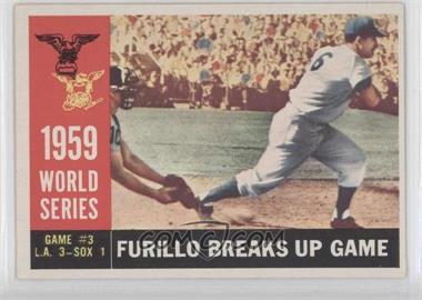 1960 Topps - [Base] #387.1 - World Series Game #3: Furillo Breaks Up Game (Carl Furillo) (White Back)