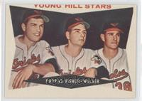 Young Hill Stars (Milt Pappas, Jack Fisher, Jerry Walker) (Gray Back)