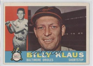 1960 Topps - [Base] #406.2 - Billy Klaus (Gray Back)