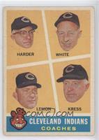 Cleveland Indians Coaches (Mel Harder, Jo-Jo White, Bob Lemon, Red Kress)
