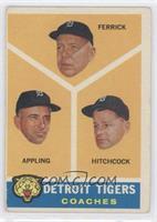 Detroit Tigers Coaches (Tom Ferrick, Billy Hitchcock, Luke Appling) [Good…