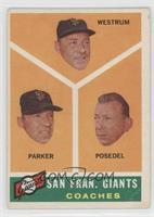 San Francisco Giants Coaches (Wes Westrum, Salty Parker, Bill Posedel) [Good&nb…