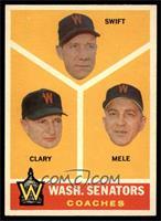 Washington Senators Coaches (Bob Swift, Ellis Clary, Sam Mele) [NM]