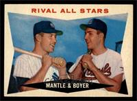 Rival All-Stars (Mickey Mantle, Ken Boyer) [EX MT]