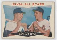 Rival All-Stars (Mickey Mantle, Ken Boyer) [Good to VG‑EX]