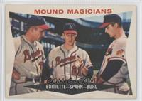 Lou Burdette, Warren Spahn, Bob Buhl [Poor to Fair]