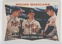 Lou Burdette, Warren Spahn, Bob Buhl [Good to VG‑EX]