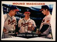 Lou Burdette, Warren Spahn, Bob Buhl [EX]
