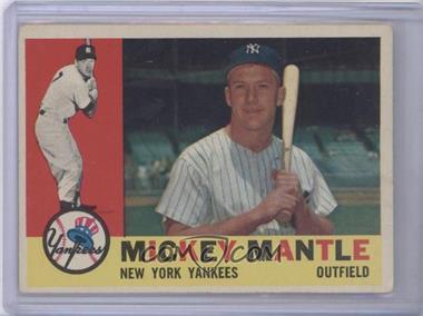 1960 Topps #350 - Mickey Mantle [GoodtoVG‑EX]