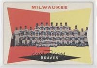 Milwaukee Brewers Team (5th Series Checklist) (White Back) [Poor to F…