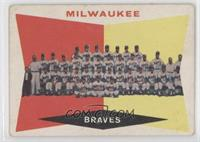 Milwaukee Brewers Team (5th Series Checklist) (White Back)