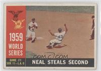 World Series Game #1: Neal Steals Second (Charlie Neal) [Good to VG&#…