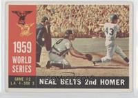 World Series Game #2: Neal Belts 2nd Homer (Charlie Neal) (White Back) [Good&nb…