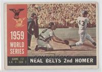 World Series Game #2: Neal Belts 2nd Homer (Charlie Neal) (White Back) [Good&nb…