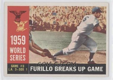 1960 Topps #387.1 - World Series Game #3: Furillo Breaks Up Game (Carl Furillo) (White Back)