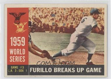 1960 Topps #387GB - World Series Game #3: Furillo Breaks Up Game (Carl Furillo)
