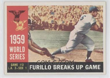 1960 Topps #387WB - World Series Game #3: Furillo Breaks Up Game (Carl Furillo)