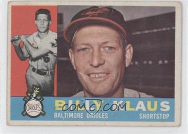 1960 Topps #406.1 - Billy Klaus (White Back)