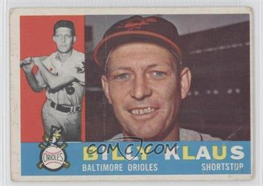 1960 Topps #406.1 - Billy Klaus (White Back) [Good to VG‑EX]