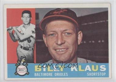 1960 Topps #406.1 - Billy Klaus (White Back)