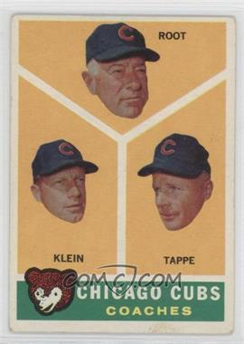 1960 Topps #457 - Lou Klein, Charley Root, El Tappe [Good to VG‑EX]