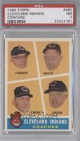 Cleveland Indians Coaches (Mel Harder, Jo-Jo White, Bob Lemon, Red Kress) [PSA&…