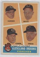 Cleveland Indians Coaches (Mel Harder, Jo-Jo White, Bob Lemon, Red Kress)