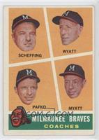 Bob Scheffing, Whit Wyatt, Andy Pafko, George Myatt