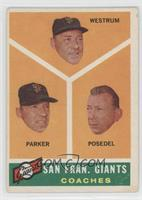 San Francisco Giants Coaches (Wes Westrum, Salty Parker, Bill Posedel) [Good&nb…