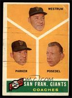 San Francisco Giants Coaches, Wes Westrum, Salty Parker, Bill Posedel [VG]