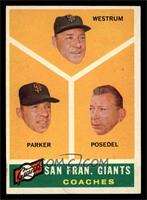 San Francisco Giants Coaches, Wes Westrum, Salty Parker, Bill Posedel [EX]