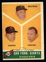 San Francisco Giants Coaches, Wes Westrum, Salty Parker, Bill Posedel [VG]