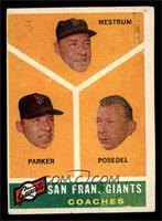 San Francisco Giants Coaches, Wes Westrum, Salty Parker, Bill Posedel [VG …