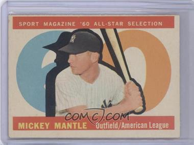 1960 Topps #563 - Mickey Mantle