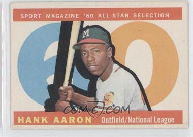 1960 Topps #566 - Hank Aaron