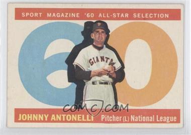 1960 Topps #572 - Johnny Antonelli