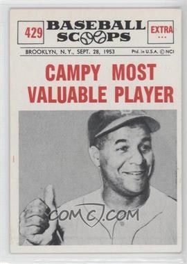 1961 Nu-Cards Baseball Scoops - [Base] #429 - Roy Campanella